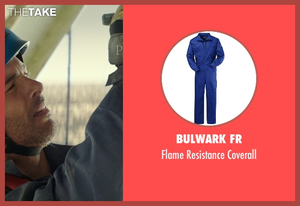 Bulwark FR blue coverall from The Best of Me seen with James Marsden (Dawson Cole)