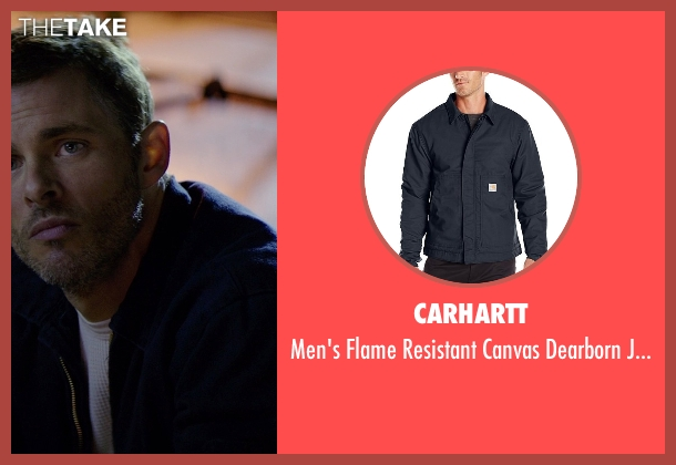 Carhartt blue jacket from The Best of Me seen with James Marsden (Dawson Cole)