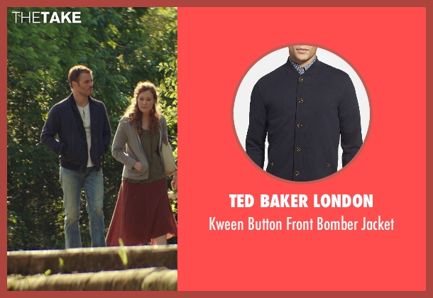 Ted Baker London blue jacket from The Best of Me seen with James Marsden (Dawson Cole)