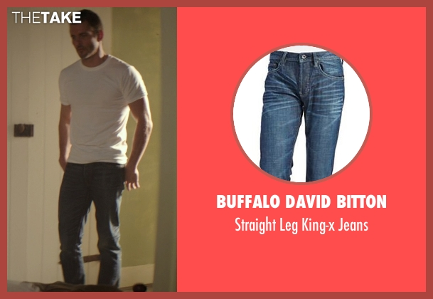 Buffalo David Bitton blue jeans from The Best of Me seen with James Marsden (Dawson Cole)