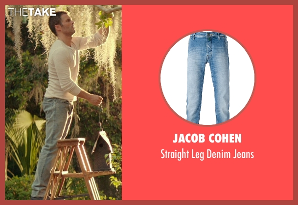 Jacob Cohen blue jeans from The Best of Me seen with James Marsden (Dawson Cole)