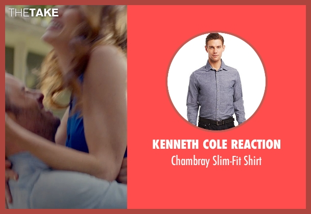 Kenneth Cole Reaction blue shirt from The Best of Me seen with James Marsden (Dawson Cole)