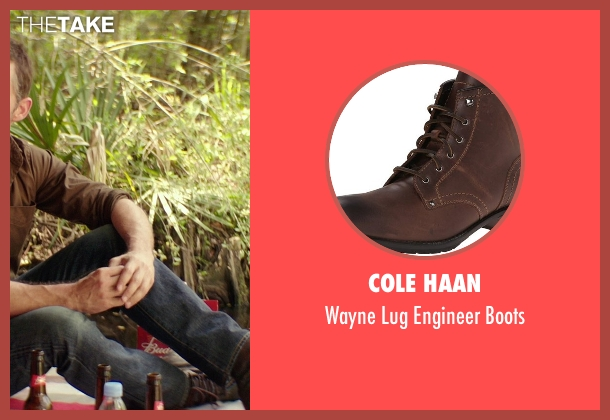 Cole Haan brown boots from The Best of Me seen with James Marsden (Dawson Cole)