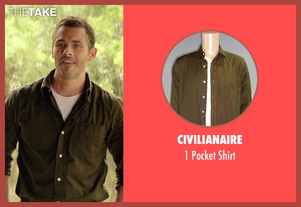 Civilianaire brown shirt from The Best of Me seen with James Marsden (Dawson Cole)