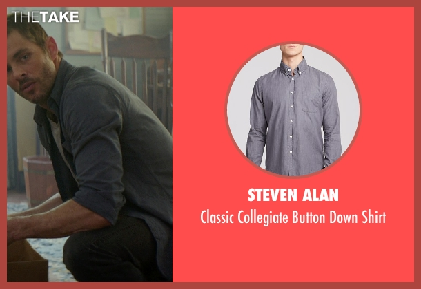 Steven Alan gray shirt from The Best of Me seen with James Marsden (Dawson Cole)