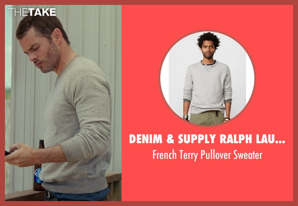 Denim & Supply Ralph Lauren gray sweater from The Best of Me seen with James Marsden (Dawson Cole)