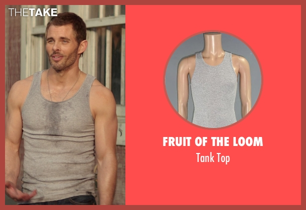 Fruit of The Loom gray top from The Best of Me seen with James Marsden (Dawson Cole)