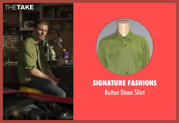 Signature Fashions green shirt from The Best of Me seen with James Marsden (Dawson Cole)