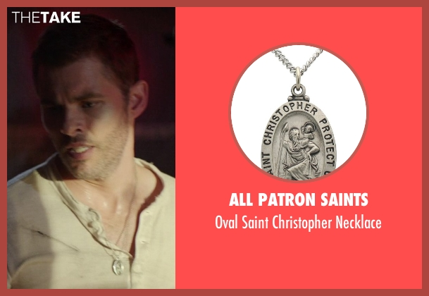 All Patron Saints silver necklace from The Best of Me seen with James Marsden (Dawson Cole)