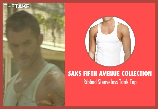 Saks Fifth Avenue Collection white top from The Best of Me seen with James Marsden (Dawson Cole)
