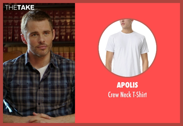 Apolis white t-shirt from The Best of Me seen with James Marsden (Dawson Cole)