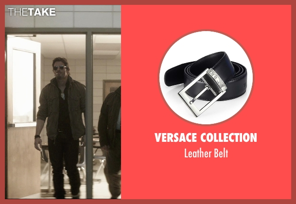 Versace Collection black belt from The D Train seen with James Marsden (Oliver Lawless)