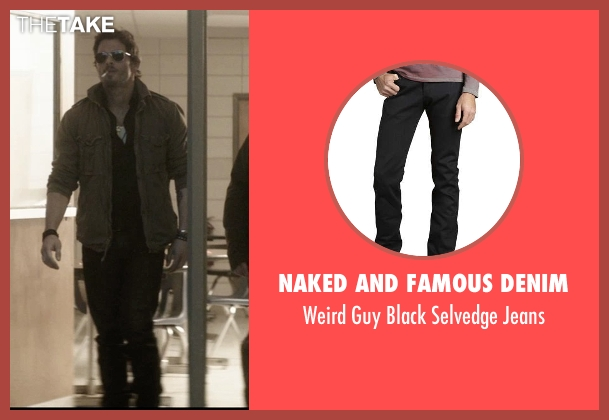 Naked and Famous Denim	 black jeans from The D Train seen with James Marsden (Oliver Lawless)