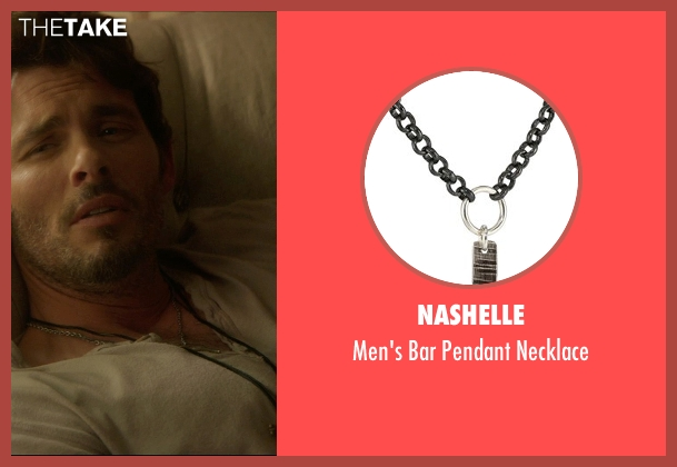 Nashelle black necklace from The D Train seen with James Marsden (Oliver Lawless)