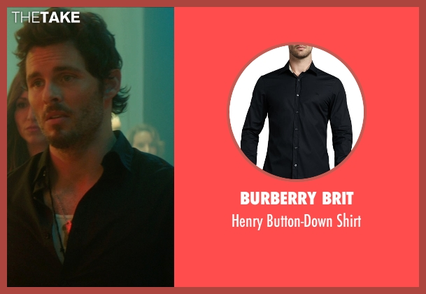 Burberry Brit black shirt from The D Train seen with James Marsden (Oliver Lawless)