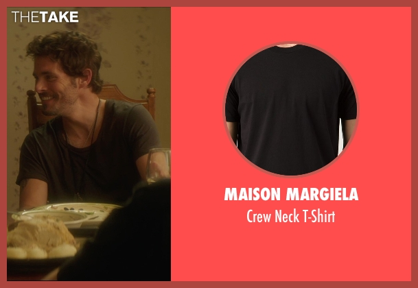 Maison Margiela black t-shirt from The D Train seen with James Marsden (Oliver Lawless)