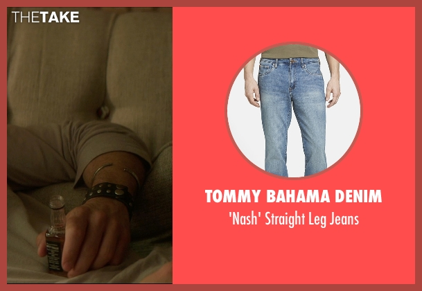 Tommy Bahama Denim blue jeans from The D Train seen with James Marsden (Oliver Lawless)