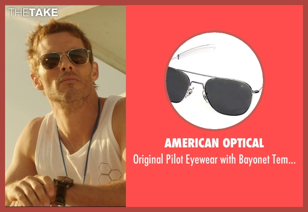 American Optical brown temples from The D Train seen with James Marsden (Oliver Lawless)