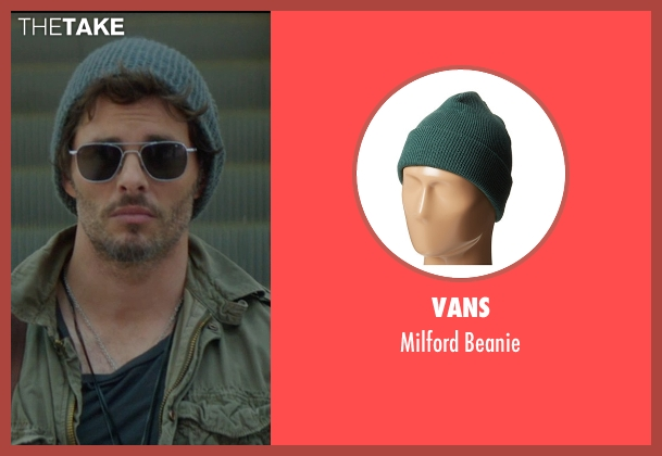 Vans green beanie from The D Train seen with James Marsden (Oliver Lawless)