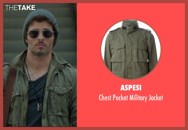 Aspesi green jacket from The D Train seen with James Marsden (Oliver Lawless)