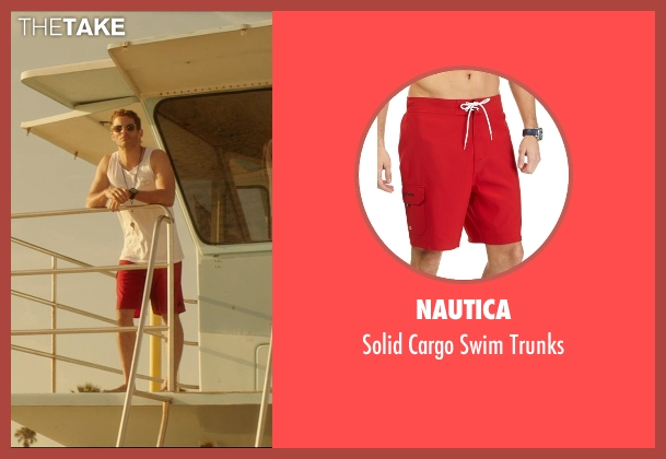 Nautica red trunks from The D Train seen with James Marsden (Oliver Lawless)