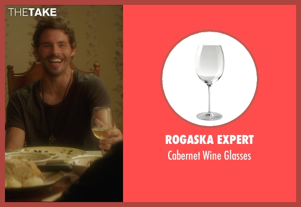 Rogaska Expert white glasses from The D Train seen with James Marsden (Oliver Lawless)