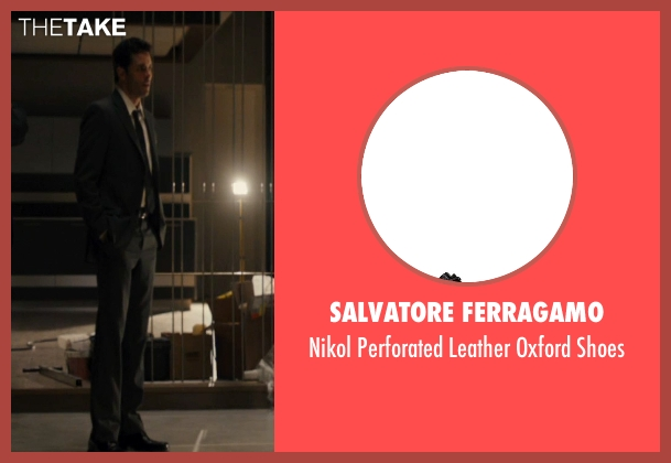 Salvatore Ferragamo black shoes from The Loft seen with James Marsden (Chris Vanowen)