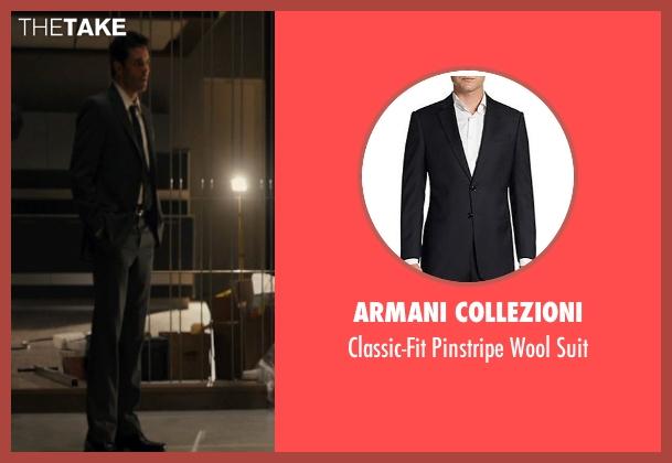 Armani Collezioni black suit from The Loft seen with James Marsden (Chris Vanowen)