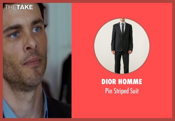 Dior Homme black suit from The Loft seen with James Marsden (Chris Vanowen)