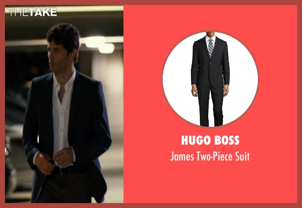Hugo Boss black suit from The Loft seen with James Marsden (Chris Vanowen)