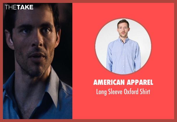 American Apparel blue shirt from The Loft seen with James Marsden (Chris Vanowen)