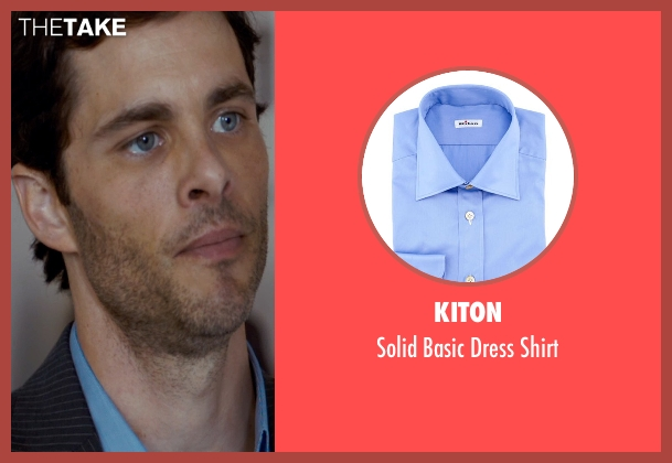 Kiton blue shirt from The Loft seen with James Marsden (Chris Vanowen)