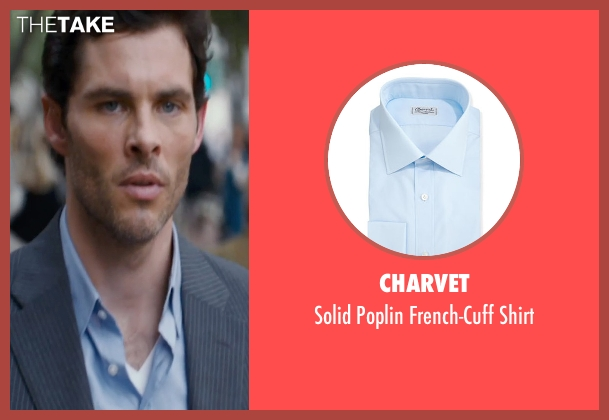 Charvet blue shirt from The Loft seen with James Marsden (Chris Vanowen)