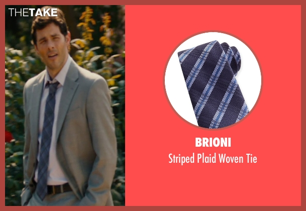 Brioni blue tie from The Loft seen with James Marsden (Chris Vanowen)