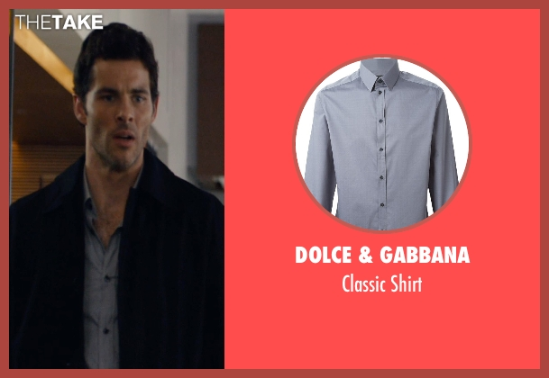 Dolce & Gabbana gray shirt from The Loft seen with James Marsden (Chris Vanowen)