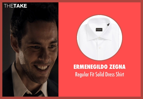 Ermenegildo Zegna white shirt from The Loft seen with James Marsden (Chris Vanowen)