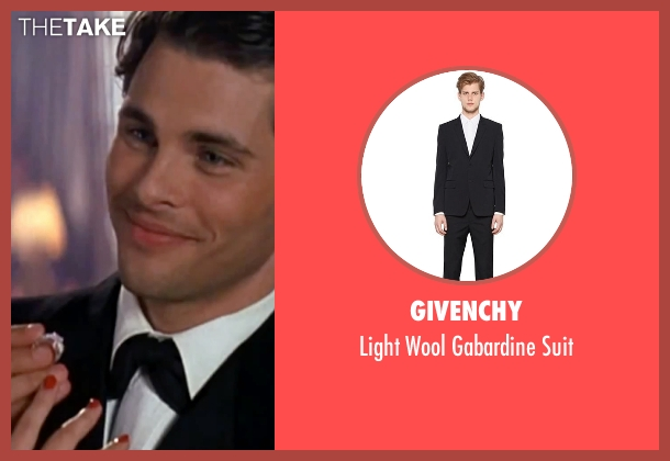 Givenchy black suit from The Notebook seen with James Marsden (Lon Hammond)