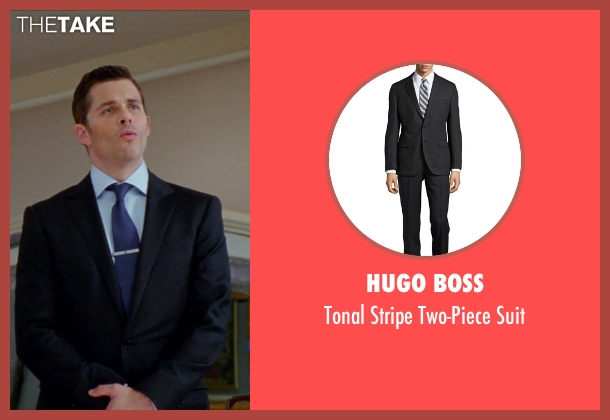 Hugo Boss black suit from Unfinished Business seen with James Marsden (Jim Spinch)