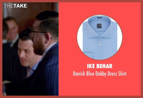 Ike Behar blue shirt from Unfinished Business seen with James Marsden (Jim Spinch)