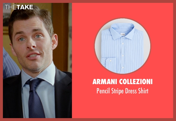 Armani Collezioni blue shirt from Unfinished Business seen with James Marsden (Jim Spinch)