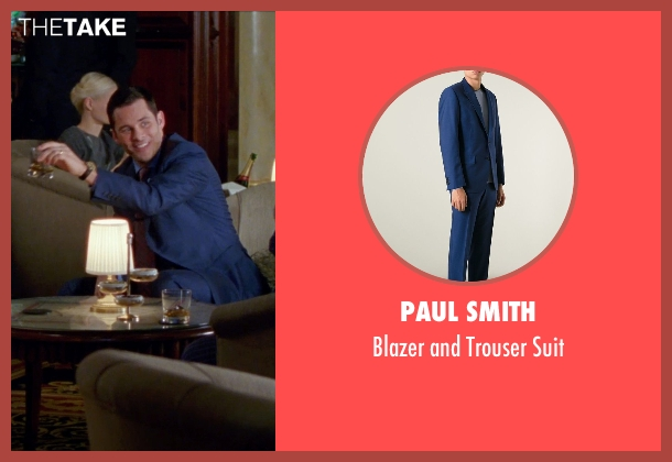 Paul Smith blue suit from Unfinished Business seen with James Marsden (Jim Spinch)