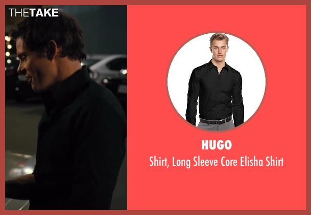 HUGO black shirt from Walk of Shame seen with James Marsden (Gordon)