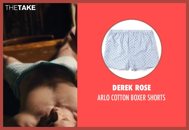 DEREK ROSE blue shorts from Walk of Shame seen with James Marsden (Gordon)