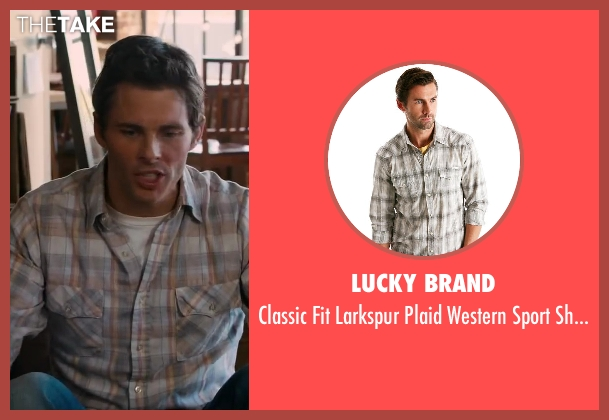 LUCKY BRAND gray shirt from Walk of Shame seen with James Marsden (Gordon)