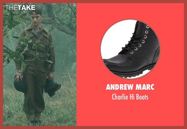 Andrew Marc black boots from Atonement seen with James McAvoy (Robbie Turner)