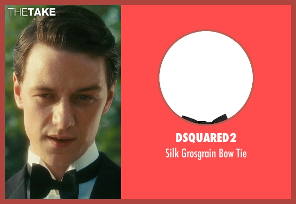 DSquared2 black tie from Atonement seen with James McAvoy (Robbie Turner)