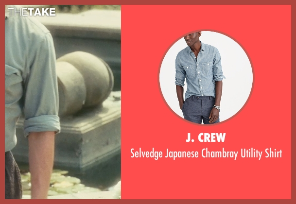 J. Crew blue shirt from Atonement seen with James McAvoy (Robbie Turner)