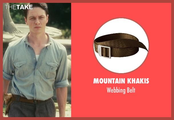 Mountain Khakis brown belt from Atonement seen with James McAvoy (Robbie Turner)
