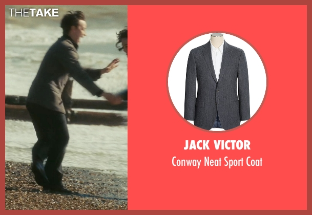 Jack Victor gray coat from Atonement seen with James McAvoy (Robbie Turner)