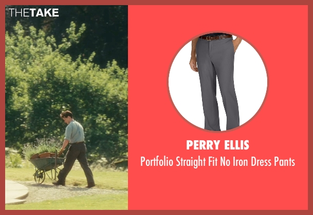 Perry Ellis gray pants from Atonement seen with James McAvoy (Robbie Turner)